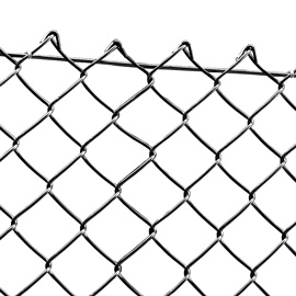 Chain link Fence Black Coated