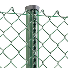 Chain Link Fence and Posts 1200mm (4ft) High Fence Green