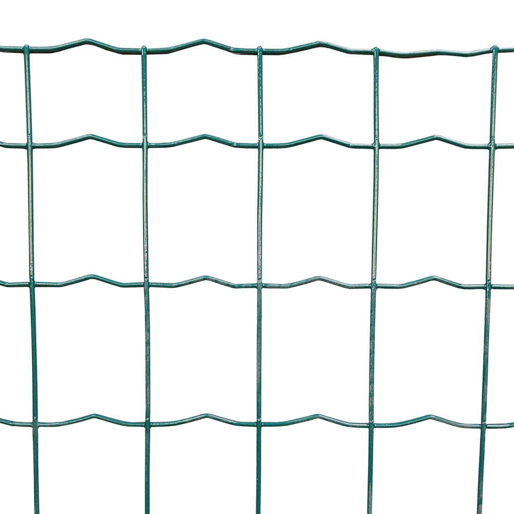 Green PVC coated mesh 100mm x 63mm Holes 1.8mm core wire