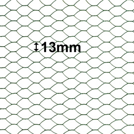 Green PVC coated Netting 13mm Hole