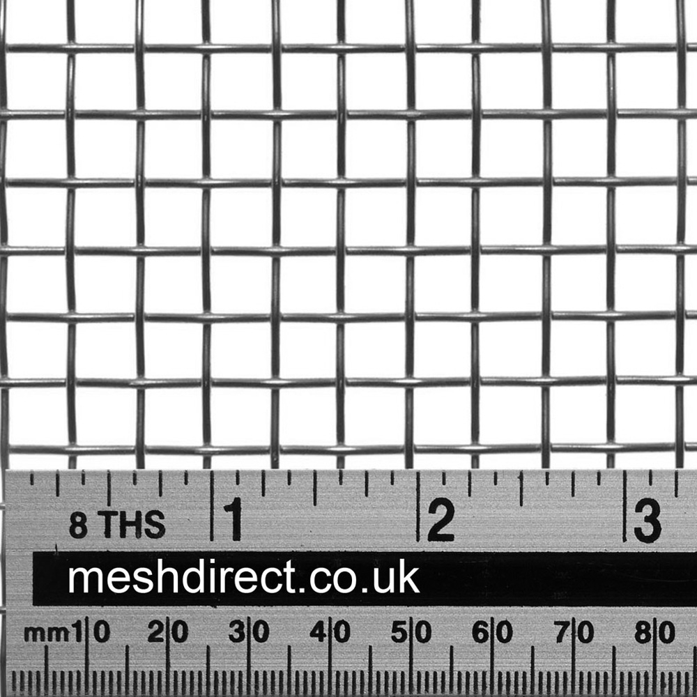 Woven Stainless Steel Wire 3 Mesh 6.8mm Hole